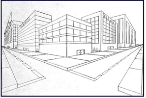 Kupperorguk Perspective - 2 point perspective drawing